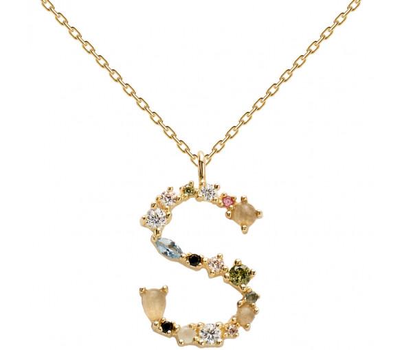 P D Paola Letters S Necklace Halskette - CO01-114-U