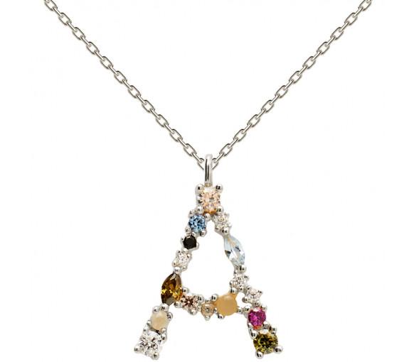 P D Paola Letters A Necklace Halskette - CO02-096-U