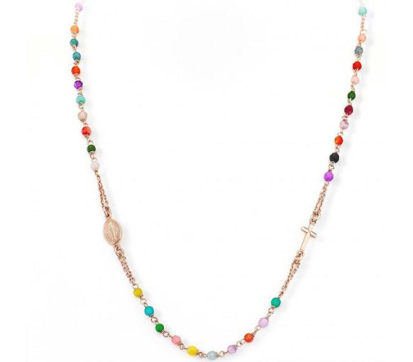 Amen Rosary Round Cross Halskette - CRORM3P