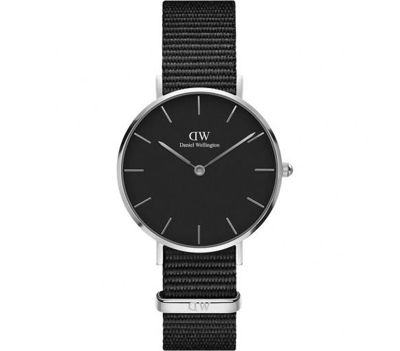 Daniel Wellington Classic Petite Cornwall Black Silver
