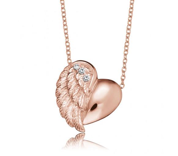 Engelsrufer Halskette Herzflügel Rosé Gold - ERN-LILHEARTWING-R