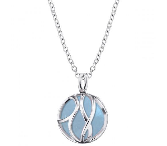 Engelsrufer Rituals Of Love Halskette Silber Aquamarin - ERN-LILPARADISE-AQ