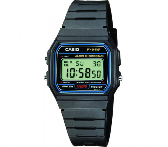 Casio Collection Retro - F-91W-1YEG