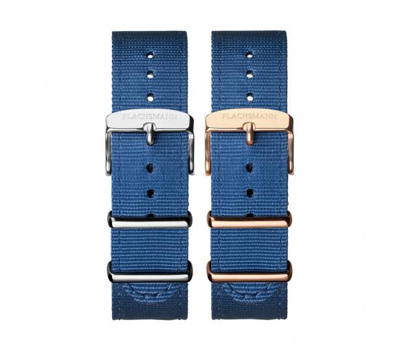 Flachsmann World Traveler Nato Blue Strap