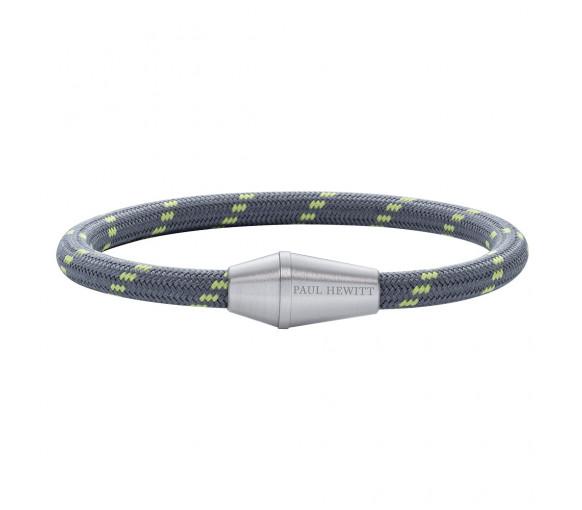Paul Hewitt Bracelet Conic Silver Nylon Grey Green