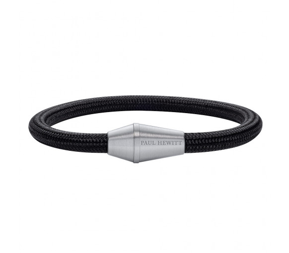 Paul Hewitt Bracelet Conic Silver Nylon Black