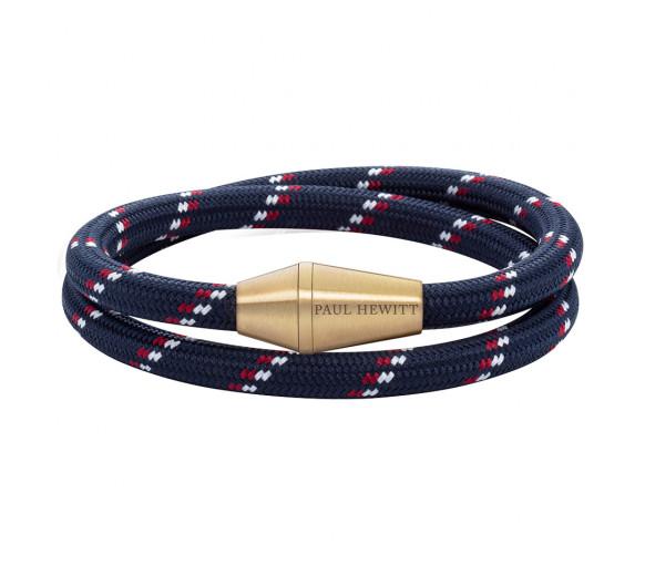 Paul Hewitt Bracelet Conic Wrap Brass Nylon Blue Red White