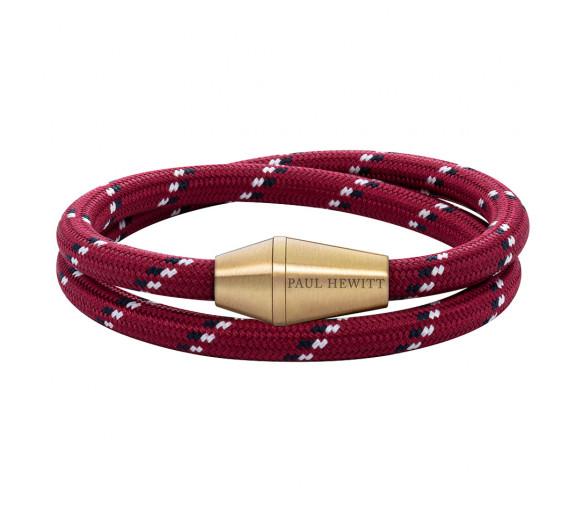 Paul Hewitt Bracelet Conic Wrap Brass Nylon Red Black White