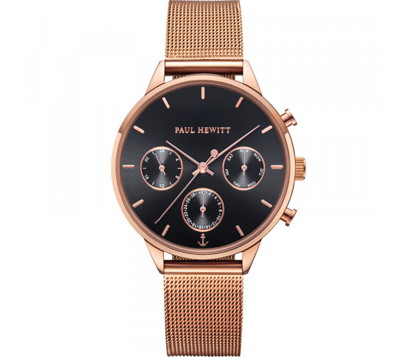 Paul Hewitt Everpulse Black Sunray Rose Gold Mesh - PH002812