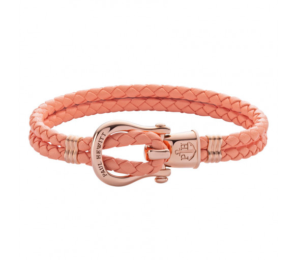 Paul Hewitt Phinity Shackle Bracelet Rose Gold Apricot - PH-FSH-L-R-A