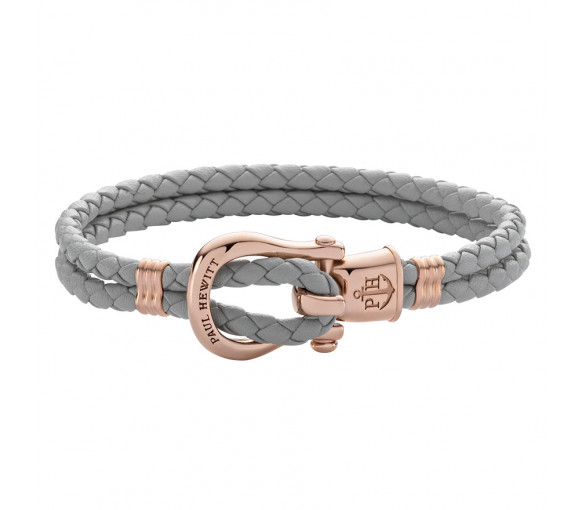 Paul Hewitt Phinity Shackle Bracelet Rose Gold Grey - PH-FSH-L-R-GR