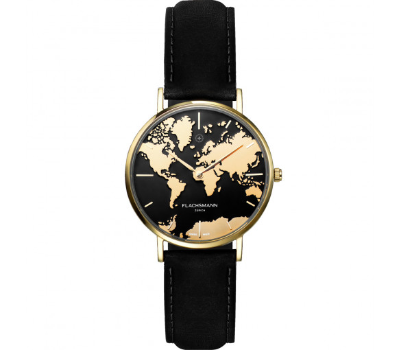 Flachsmann World Traveler De Luxe Gold Black - WT-DE Luxe 12