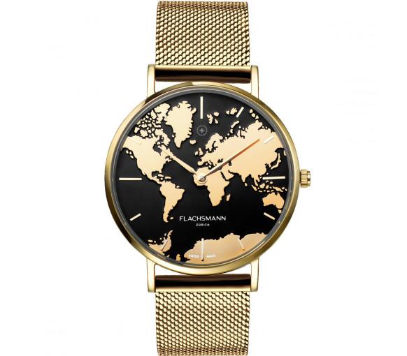 Flachsmann World Traveler De Luxe Gold Mesh - WT-DE Luxe 6