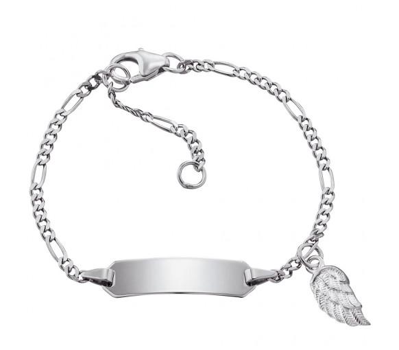 Herzengel Armband Flügel - HEB-ID-WING