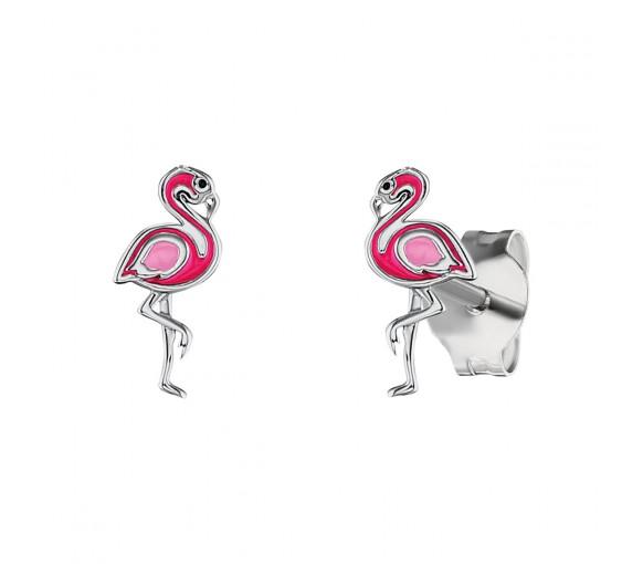 Herzengel Ohrstecker Flamingo - HEE-FLAMINGO-ST
