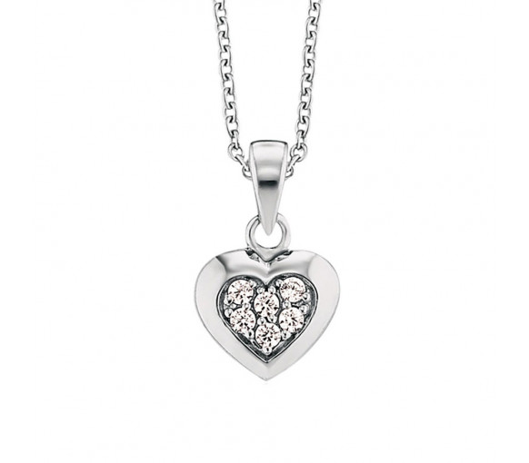 Herzengel Halskette mit Herz - HEN-HEART02-ZI