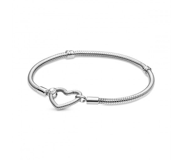 Pandora Moments Heart Closure Snake Chain Armband - 599539C00