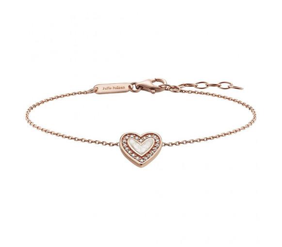 Julie Julsen Amore Armband Herz Rosé - JJBR0322.2