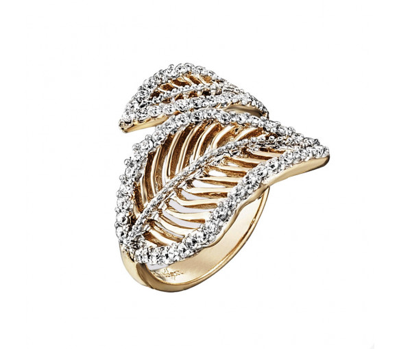 Julie Julsen Ring Blatt Gold - JJRG10390.3