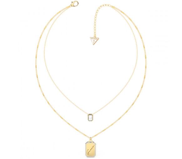 Guess Crystal Tag Halskette - JUBN01129JWYGT-U
