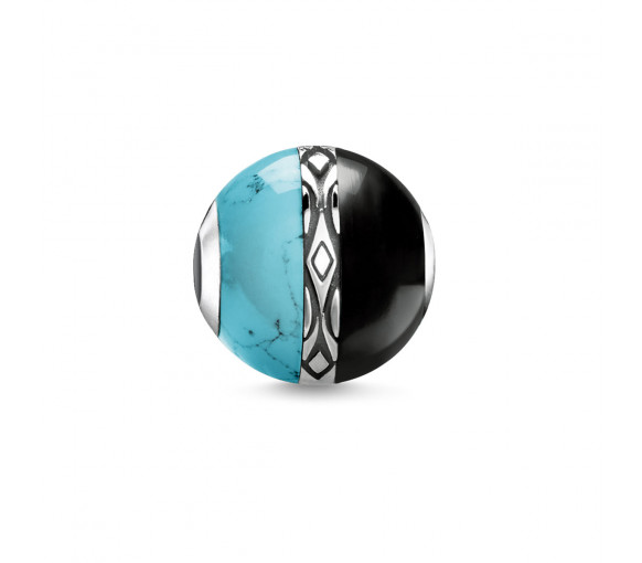 Thomas Sabo Bead Ornament Turquoise & Black - K0324-878-7