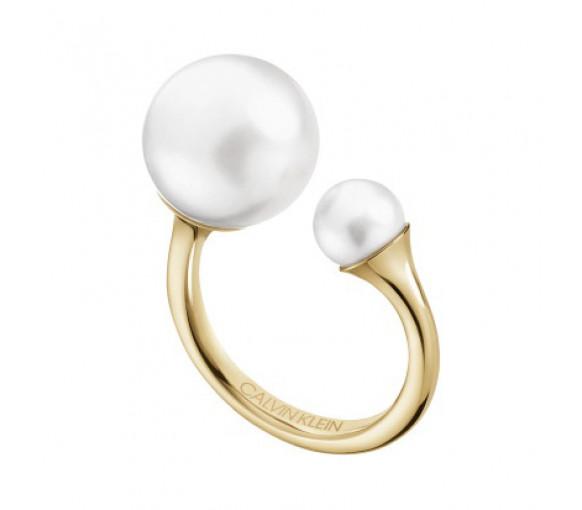 Calvin Klein Pearly Ring Gold - KJCEJR1401