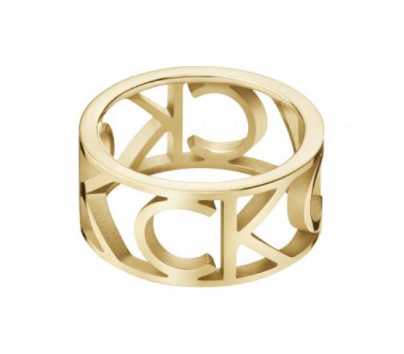 Calvin Klein Mania Ring Gold - KJCSJR1001