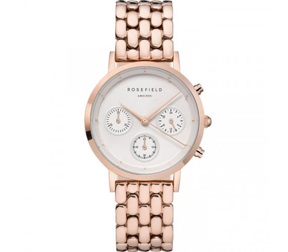 Rosefield The Chrono White Rosegold - NWG-N91