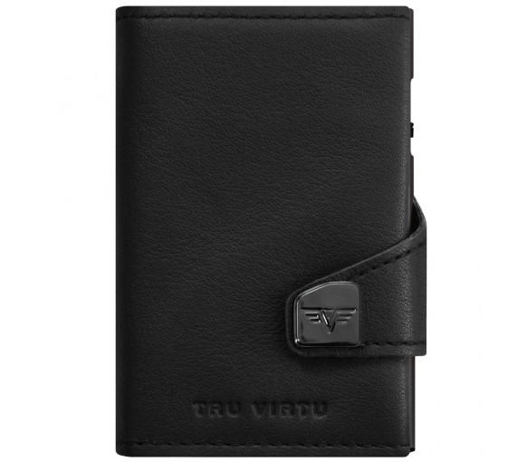 Tru Virtu Click & Slide Double Wallet Nappa Black/Black - 27.10.4.0001.08