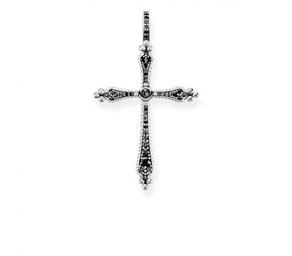 Thomas Sabo Anhänger Royalty Kreuz Schwarze Steine - PE764-643-11