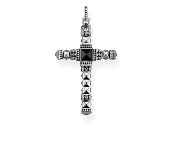 Thomas Sabo Anhänger Ethno Kreuz Schwarz Mittel - PE775-698-11