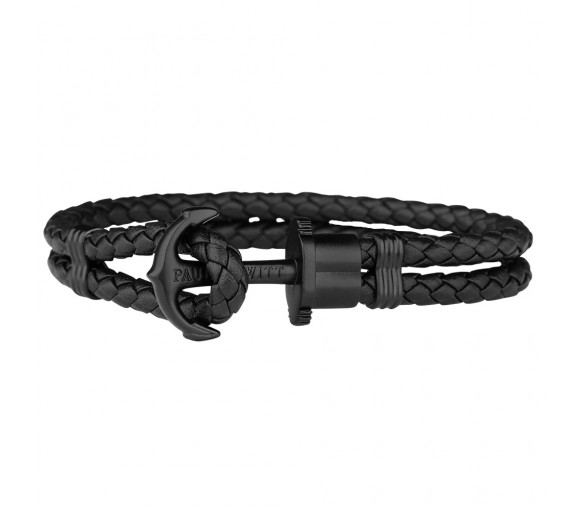 Paul Hewitt Anchor Bracelet Phrep Black Black - PH-PH-L-B-B