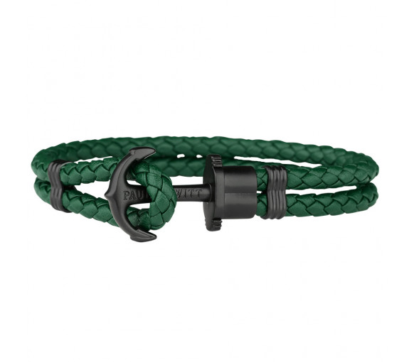 Paul Hewitt Anchor Bracelet Phrep Black Green - PH-PH-L-B-G