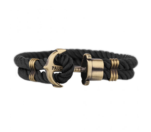Paul Hewitt Anchor Bracelet Phrep Brass Nylon Black - PH-PH-N-B