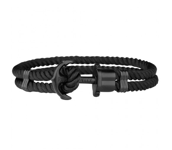 Paul Hewitt Anchor Bracelet Phrep Black Nylon Black - PH-PH-N-B-B