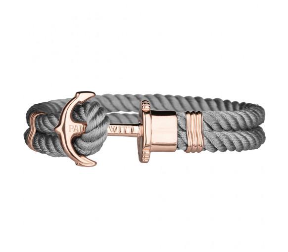 Paul Hewitt Anchor Bracelet Phrep Rose Gold Nylon Grey - PH-PH-N-R-Gr