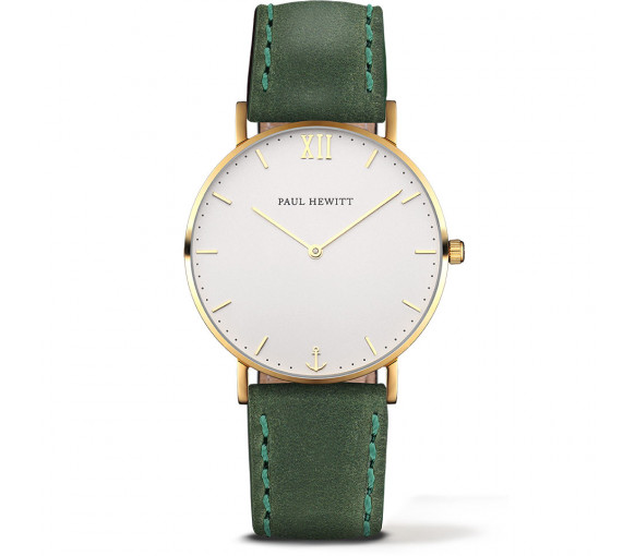 Paul Hewitt Sailor Line White Sand Gold Leather Green