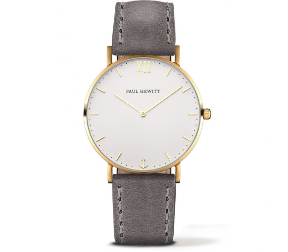 Paul Hewitt Sailor Line White Sand Gold Leather Grey