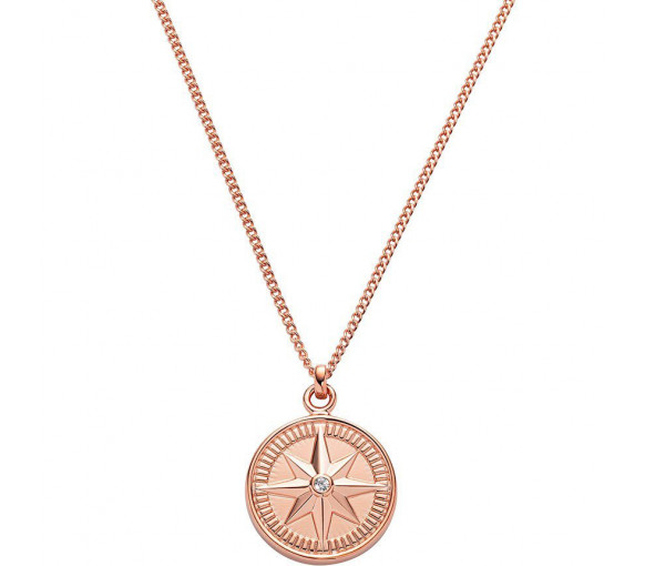 Paul Hewitt Sterling Silver Necklace Wind Rose Rosé Gold - PH003101