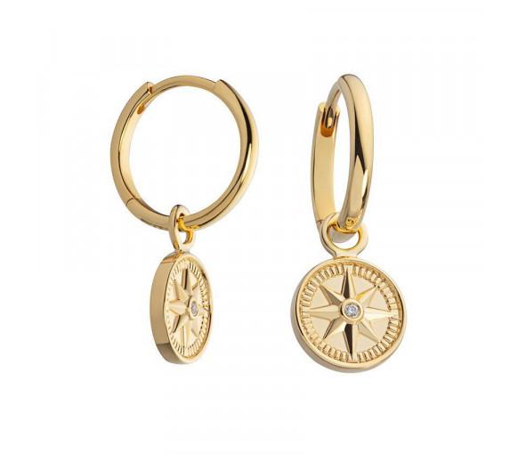 Paul Hewitt Sterling Silver Earrings Wind Rose Gold - PH003103
