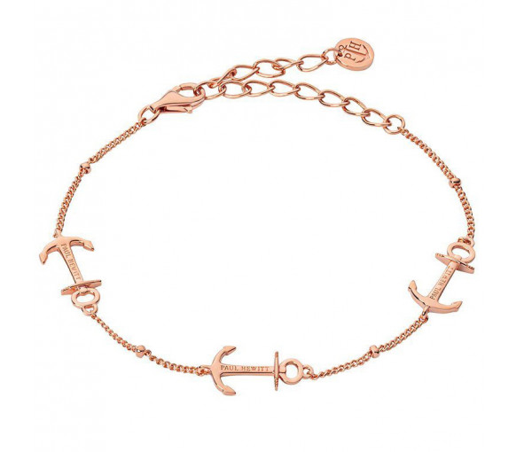 Paul Hewitt Sterling Silver Bracelet Anchor Rope Rosé Gold - PH003110