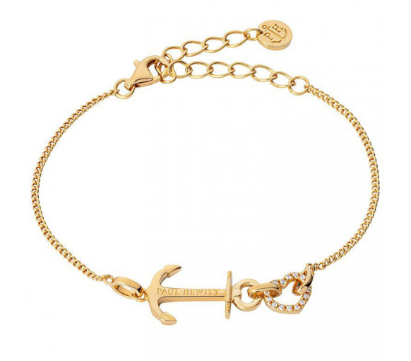 Paul Hewitt Sterling Silver Bracelet Anchor Love Gold - PH003115