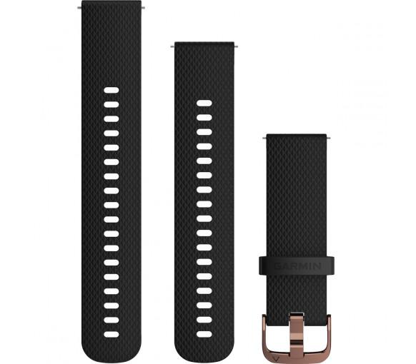 Garmin Quick Release (20 mm) Black Silicone Band - 010-12691-03