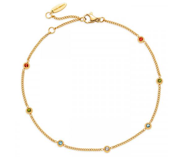 Paul Hewitt Anklet Rainbow Stones Gold - PH003659