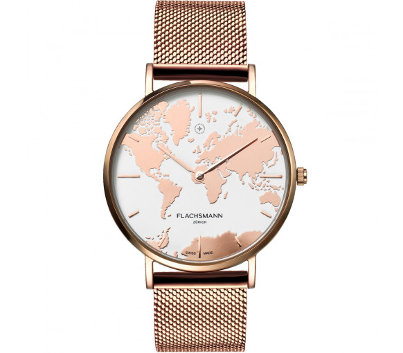 Flachsmann World Traveler De Luxe Rose Gold Mesh - WT-DE Luxe 3