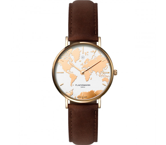 Flachsmann World Traveler De Luxe Rose Gold Vintage - WT-DE Luxe 9