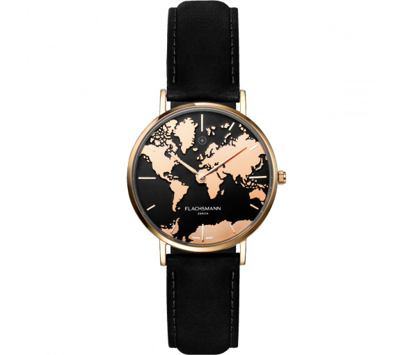Flachsmann World Traveler De Luxe Rose Gold Black - WT-DE Luxe 10