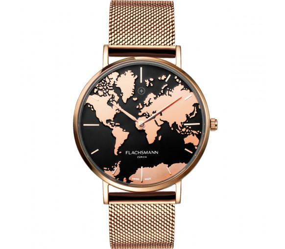 Flachsmann World Traveler De Luxe Rose Gold Mesh - WT-DE Luxe 4