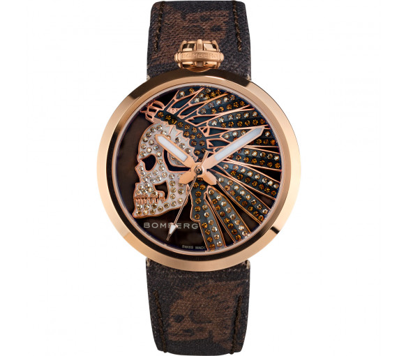Bomberg 1968 Indian Skull Chocolat Brown - RS40H3PPK.180.3