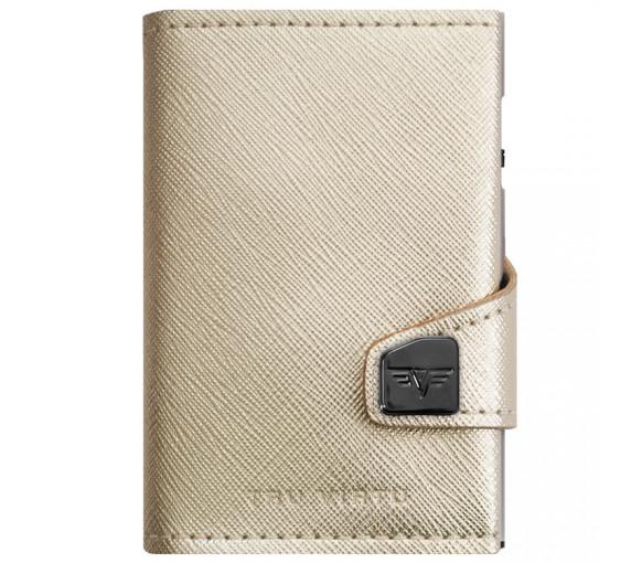 Tru Virtu Click & Slide Wallet Saffiano Whitegold Silver - 24.10.4.0001.03